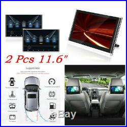 Pair 11.6 Touch Screen Android 7.1 Car Headrest Monitors Wifi 3G/4G BT OBD TPMS