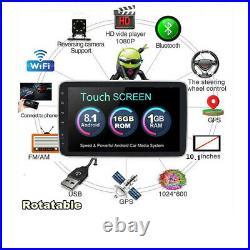 Rotatable 10.1 Android 8.1 Double Din Car Stereo Bluetooth WiFi MP5 GPS Player