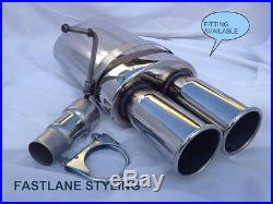 Stainless Vauxhall Astra F G Vectra Universal Performance Back Box Exhaust St35