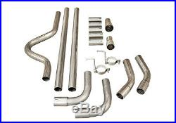 Universal For Vauxhall Full Cat Back System Sports Universal 2 Pipe Kit Piping