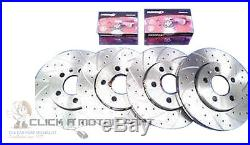 VAUXHALL ASTRA G 2.2 SRi MK4 FRONT & REAR DIMPLE GROOVED BRAKE DISCS MINTEX PADS