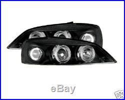 VAUXHALL ASTRA G 98-04 Black Twin Angel Eye Headlights Projector