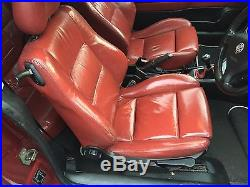Vauxhall Astra Mk4 Coupe Full Red Leather Interior Seats Door Cards