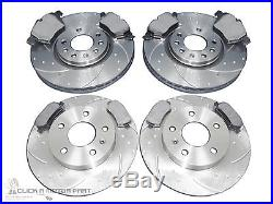 VAUXHALL ASTRA MK4 G 2.0 GSi TURBO FRONT & REAR GROOVED BRAKE DISCS MINTEX PADS