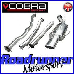 VZ10d Cobra Astra Coupe 2.0 MK4 3 Turbo Back Exhaust System Non Res & De Cat