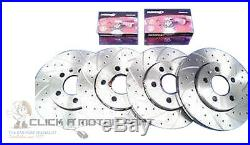 Vauxhall Astra G Coupe Mk4 Front & Rear Dimpled Grooved Brake Discs Mintex Pads