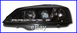 Vauxhall Astra G Mk4 98-03 Black Drl Led R8 Design Projector Front Headlights