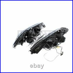 Vauxhall Astra G Mk4 Coupe 1998-2004 Angel Eyes Headlights Headlamps Black Inner