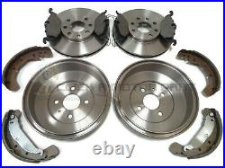 Vauxhall Astra G Mk4 Rear 2 Brake Drums & Shoes Set + Front Discs & Pads New