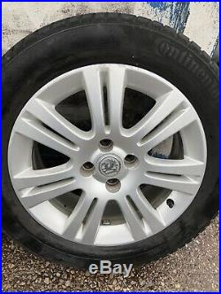 Vauxhall Astra H Mk5 G Mk4 / Corsa D Set Of 16 Inch Alloy Wheels & 4 Good Tyres