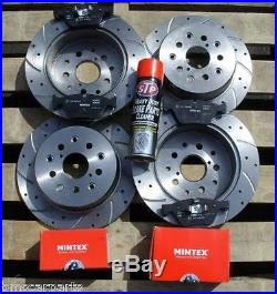 Vauxhall Astra MK4 2.2 (98-06) Front Rear Drilled + Grooved Brake Discs And Pads