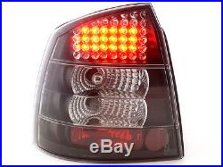 Vauxhall / Opel Astra G 3/5 Door 1998-2003 Black Rear LED Tail Lights Pair NEW